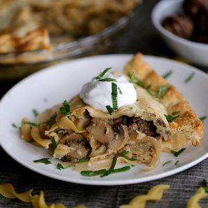 Meatball Stroganoff Pot Pie
