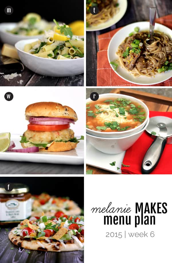 Melanie Makes Menu Plan 2015 - Week 6