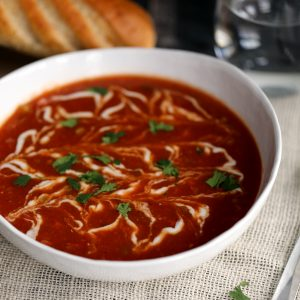 Roasted Tomato and Green Chile Soup