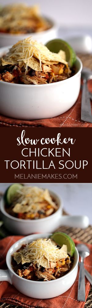 Warm and comforting on the coldest of days, my Slow Cooker Chicken Tortilla Soup truly hits the spot. With just 10 minutes of prep, each and every ingredient is added to the slow cooker and your house begins to smell amazing. Packed with protein from the chicken and addition of black beans and a full-bodied southwestern spiced broth, this soup is destined to be a favorite.