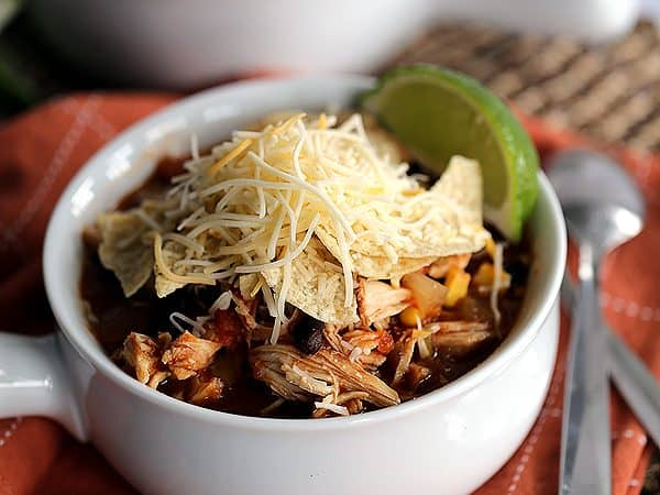 Slow Cooker Chicken Tortilla Soup | Melanie Makes