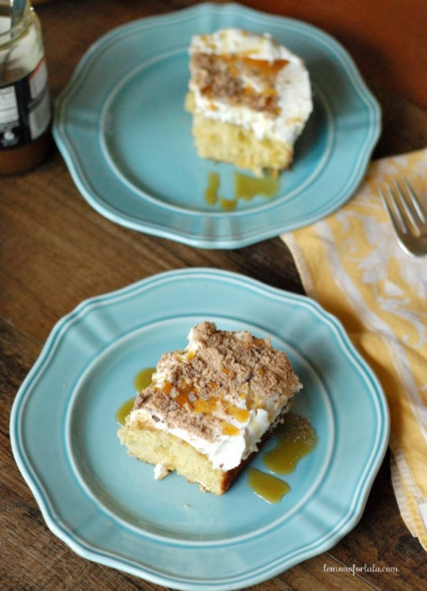 Banana Toffee Poke Cake | Lemons for Lulu for Melanie Makes