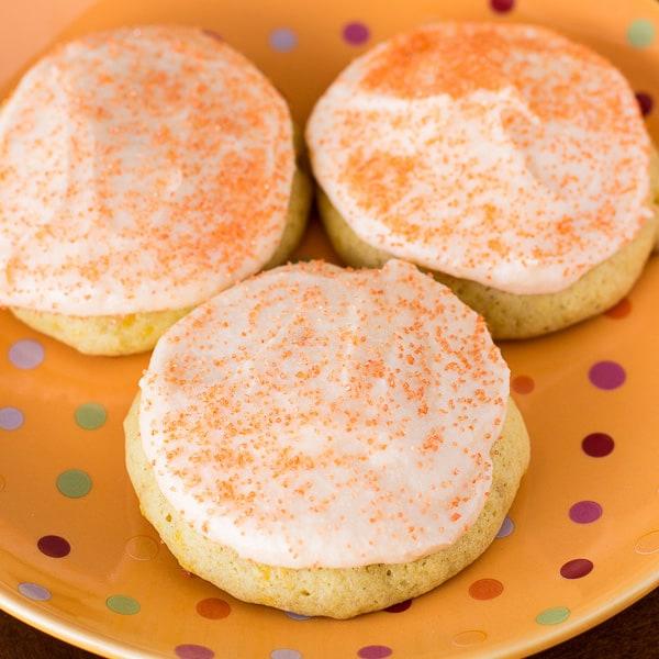 Frosty Orange Cookies