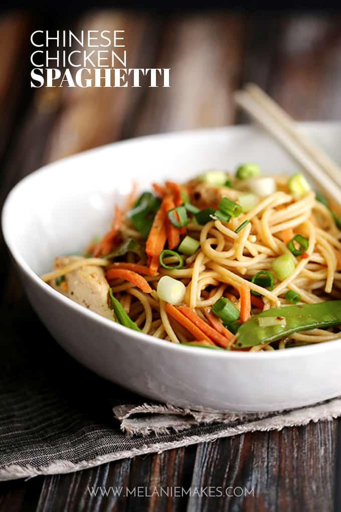 Chinese Chicken Spaghetti | Melanie Makes