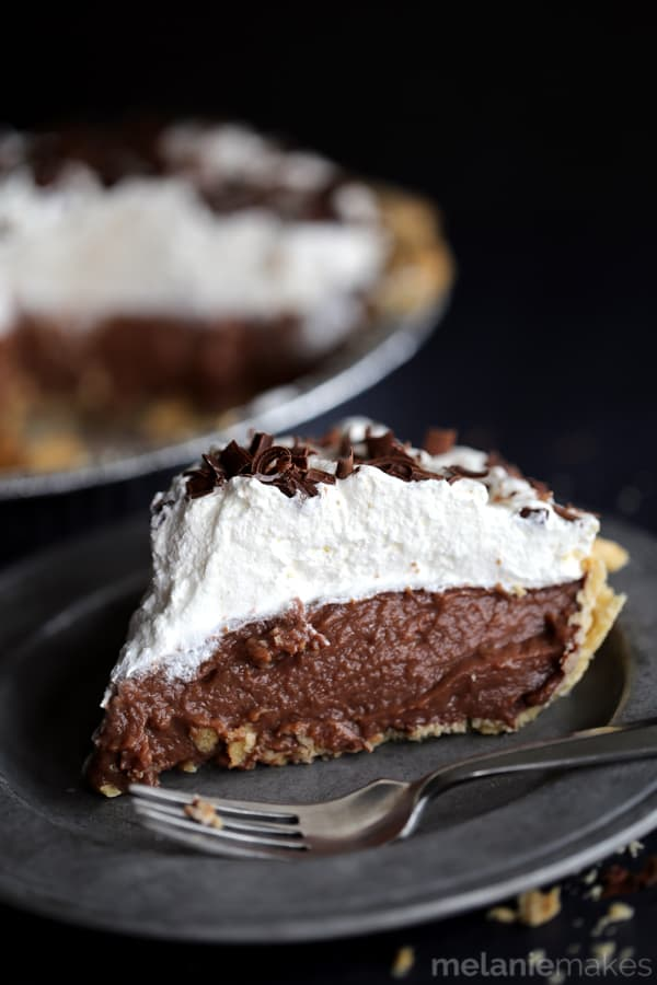 want to share a single slice of this Homemade Chocolate Pudding Pie ...