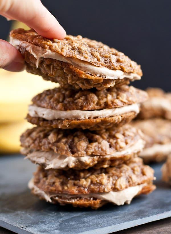 Peanut Butter Banana Oatmeal Creme Pies   Neighborfood for Melanie Makes