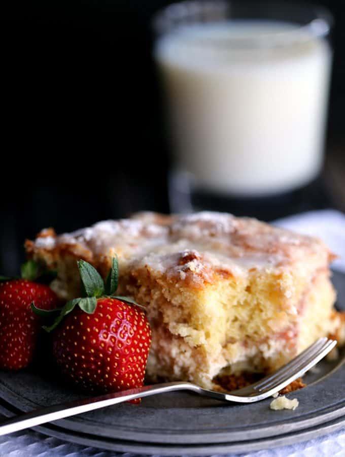 Strawberries and Cream Coffee Cake