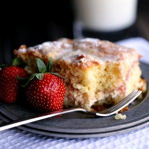 Strawberries and Cream Coffee Cake | Melanie Makes