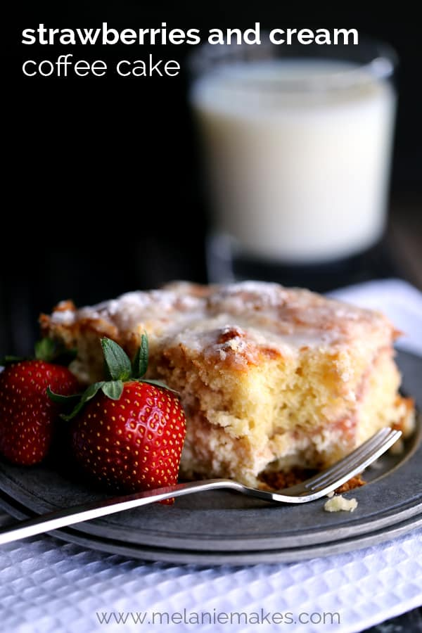 Strawberries and Cream Coffee Cake | Melanie Makes