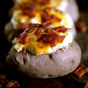 Horseradish Dill Twice Baked Stuffed Potatoes