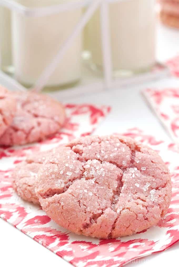 Strawberry Sugar Cookies | Melanie Makes