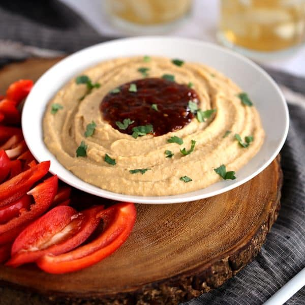 Chili Cilantro Blender Hummus   Melanie Makes
