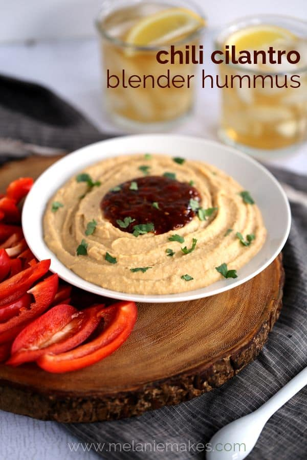 Chili Cilantro Blender Hummus | Melanie Makes
