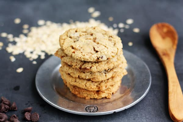 Oatmeal Toffee Chocolate Chip Cookies | Lulu the Baker for Melanie Makes