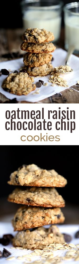 Oatmeal Raisin Chocolate Chip Cookies | Melanie Makes