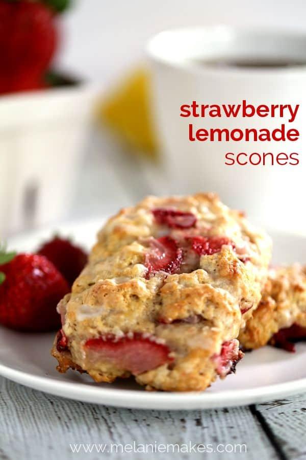 Strawberry Lemonade Scones | Melanie Makes