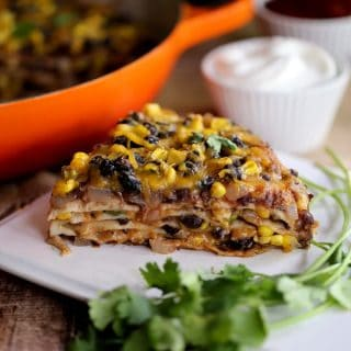 Sweet and Smoky Quesadilla Casserole | Melanie Makes