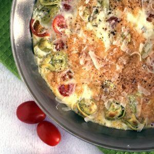 Tomato Tortellini Frittata