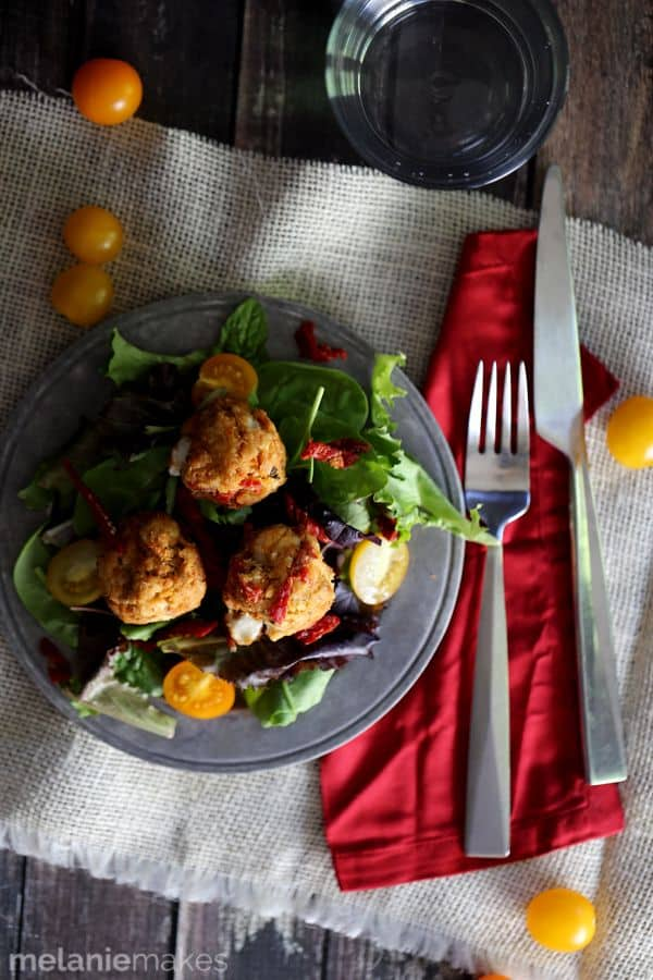 Baked Caprese Tuna Meatballs | Melanie Makes