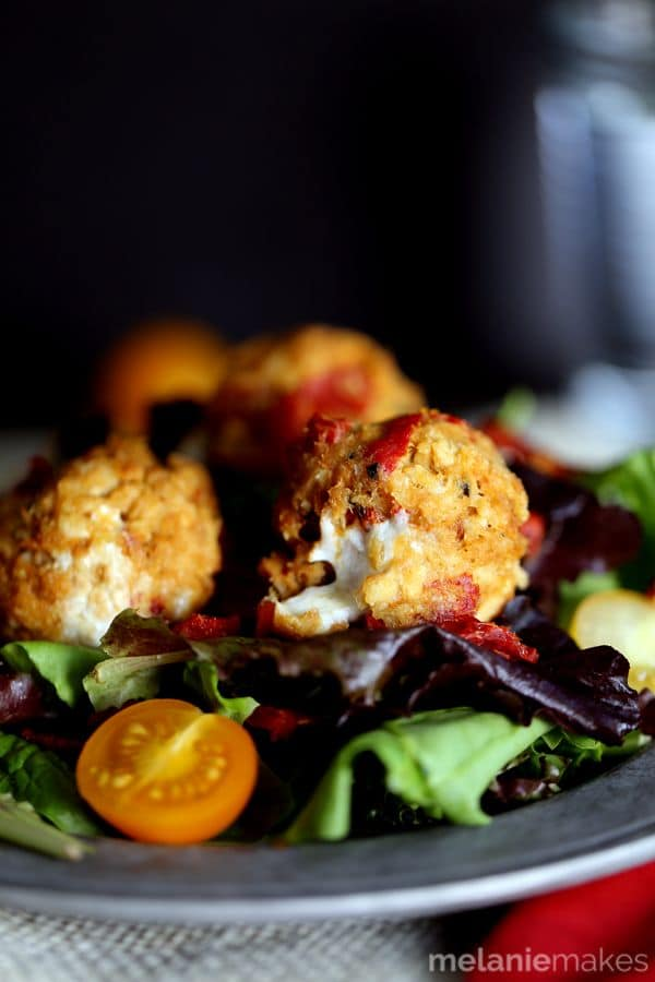 Baked Caprese Tuna Meatballs | Melanie Makes