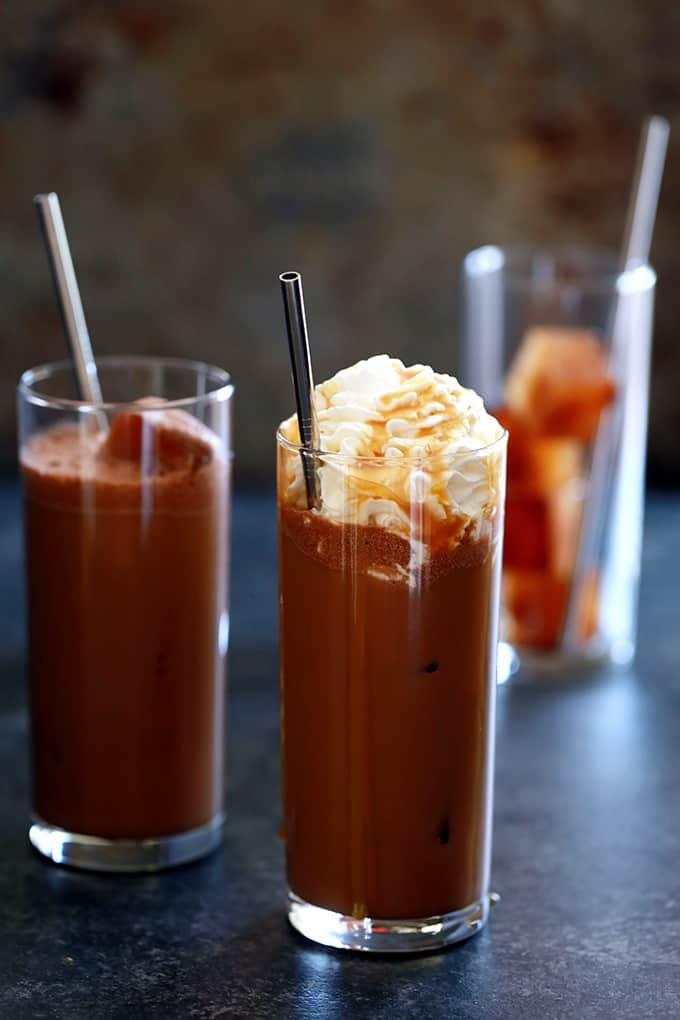 Iced Caramel Mocha Latte | Melanie Makes
