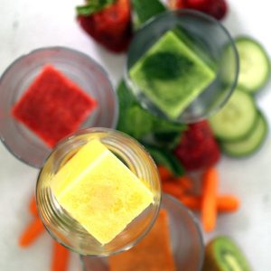 Juice Infused Ice Cubes