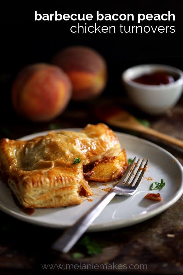 Barbecue Bacon Peach Chicken Turnovers | Melanie Makes