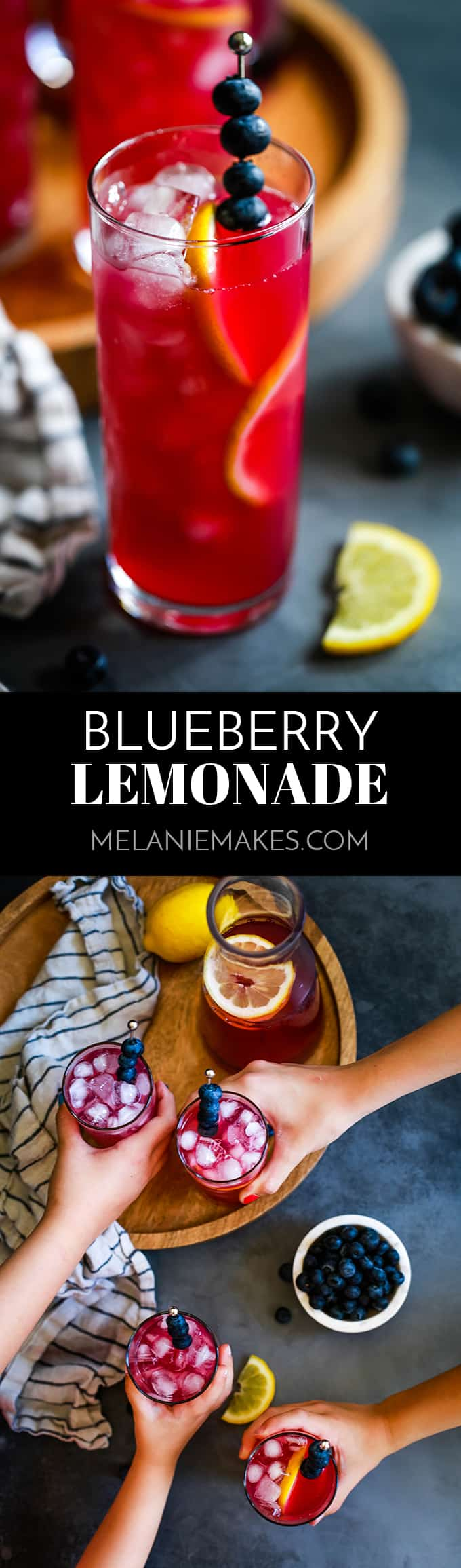My Blueberry Lemonade requires just four ingredients and 15 minutes to prepare, and that's if you count water as an ingredient.  The signature drink of summer gets an upgrade thanks to my delicious shortcut! #blueberry #lemonade #drinks #summerrecipes #easyrecipe #preserves