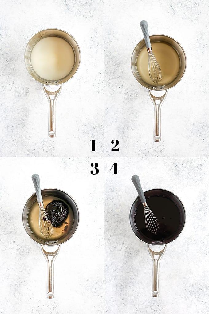 How to prepare Blueberry Lemonade, steps 1-4.