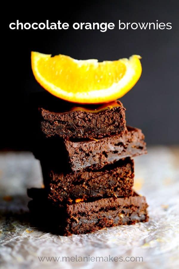Chocolate Orange Brownies | Melanie Makes