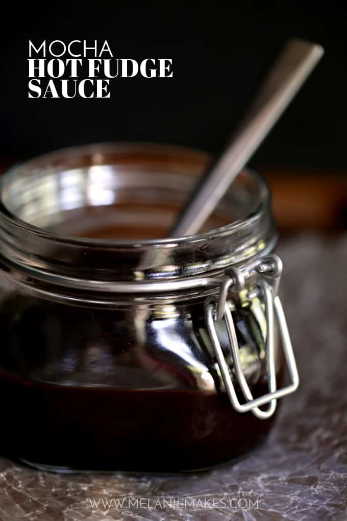 Mocha Hot Fudge Sauce | Melanie Makes