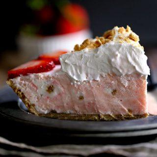 Strawberry Cheesecake Ice Cream Pie | Melanie Makes