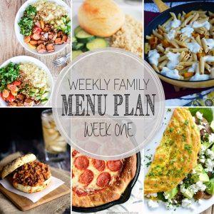 Weekly Family Menu Plan – Week 1