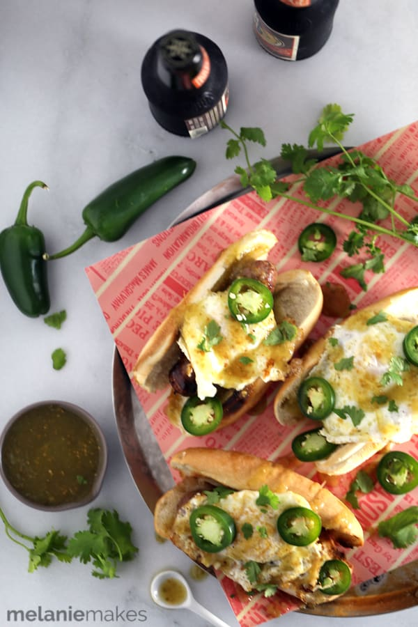 Salsa Verde Breakfast Bratwursts   Melanie Makes