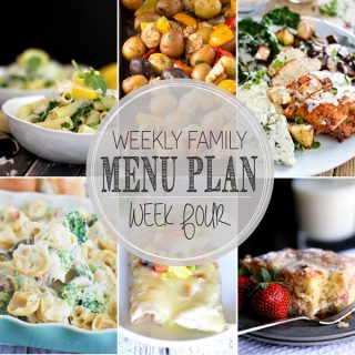 Weekly Family Meal Plan - Week 4 | Melanie Makes