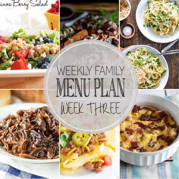 Weekly Family Meal Plan – Week 3