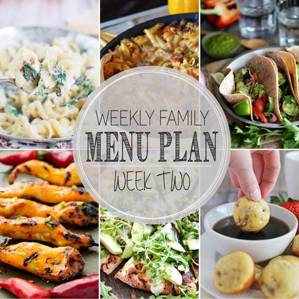 Weekly Family Menu Plan – Week 2