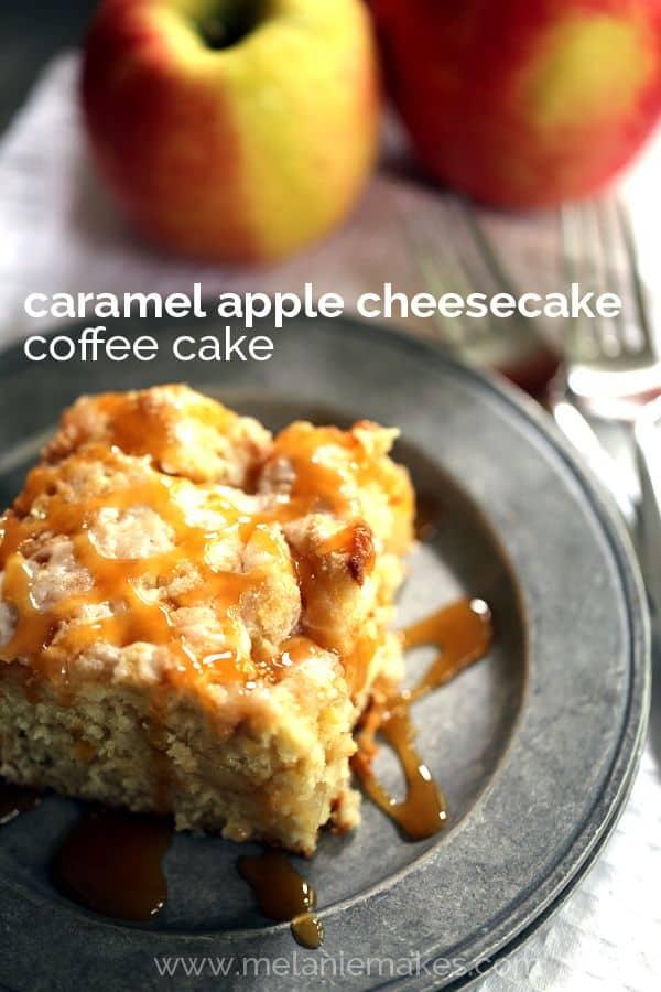 Caramel Apple Cheesecake Coffee Cake | Melanie Makes