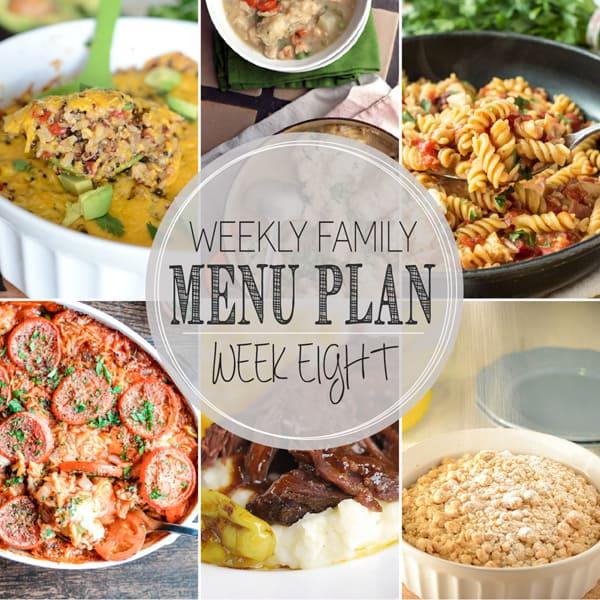 Weekly Family Meal Plan - Week 8 | Melanie Makes