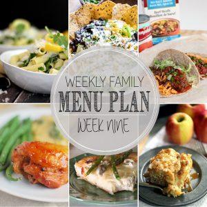Weekly Family Meal Plan – Week 9