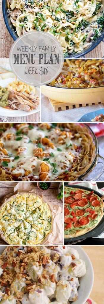 Weekly Family Meal Plan - Week 6 | Melanie Makes