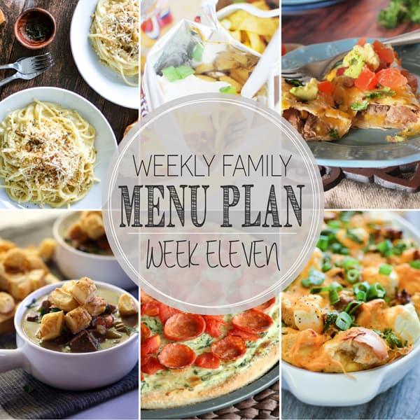 Weekly Family Meal Plan – Week 11