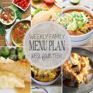 Weekly Family Meal Plan – Week 14