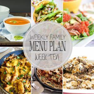 Weekly Family Meal Plan – Week 10