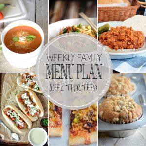 Weekly Family Meal Plan – Week 13