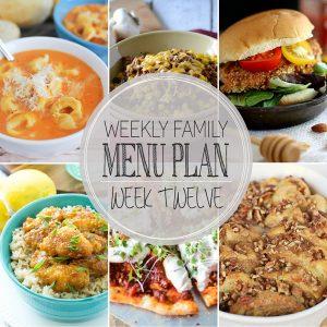 Weekly Family Meal Plan – Week 12