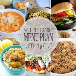 Weekly Family Meal Plan - Week 12 | Melanie Makes