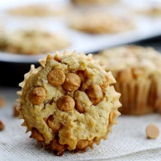 Pumpkin Butterscotch Oatmeal Muffins | Melanie Makes