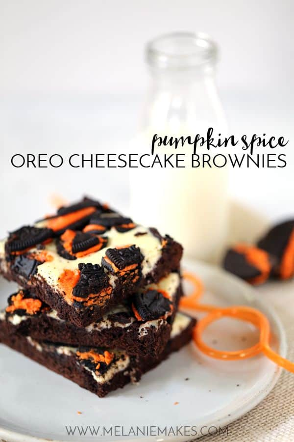 Pumpkin Spice Oreo Cheesecake Brownies | Melanie Makes