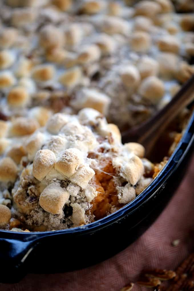 Make Ahead Sweet Potato Casserole | Melanie Makes